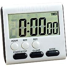 AZX Temporizador Digital de Cocina, LCD Pantalla Grande Temporizador,24 Horas Temporizador de Reloj