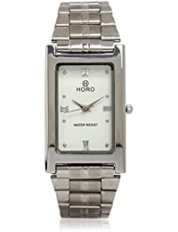 Horo(Imported) Silver Plated Stainless Steel Rectangle Wrist Watch 41X25mm
