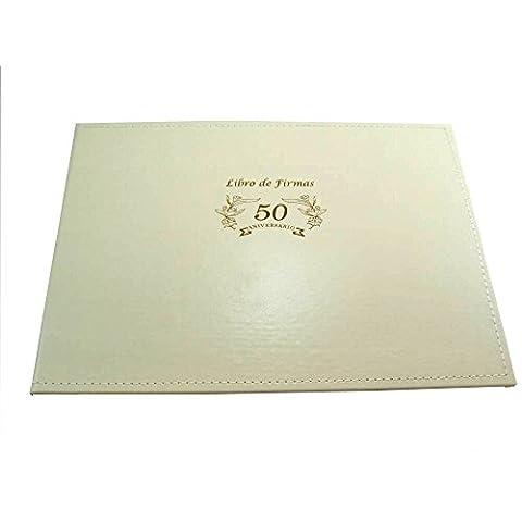 Libro de firmas boda 50 aniversario