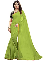 High Glitz Fashion Saree (HGF1256_Green_Free Size)