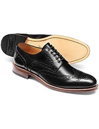 Black Eyelet Derby Brogue Shoe by Charles Tyrwhitt