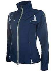 HKM PRO TEAM Softshelljacke–Neon Sports de, color azul oscuro, tamaño 140