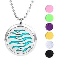Meilanty Beste Geschenk Damen Halskette 60cm Duft Medaillon Silber mit 6 Waschbare Pads WZ-C01 preisvergleich bei billige-tabletten.eu