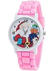 Regalos de Navidad ,Tongshi niños del color del reloj del silicón reloj de la correa (rojo)