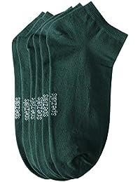 Weri Spezials Hommes Sneakers Chaussettes x3 Vert Fonce