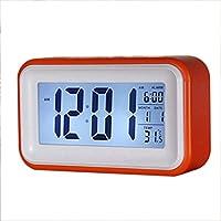 Sonline Touch-LCD-Digital-Wecker LED-Licht Snooze Hintergrundbeleuchtung Digit Zeit Kalender - Orange preisvergleich bei billige-tabletten.eu