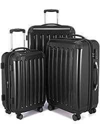 HAUPTSTADTKOFFER - Alex - NEU 4 Doppel-Rollen Handgepäck Hartschalen-Koffer Trolley Rollkoffer Reisekoffer Koffer-Set, TSA (S, M & L)