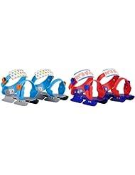 Nijdam Gleitschuhe verstellbar - Patines de patinaje sobre hielo , color azul / naranja, talla 24-34