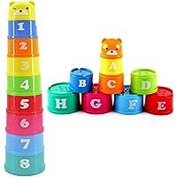 Interesting® 1set bebé niños niños juguete educativo figuras Letras plegable Copa Pagoda