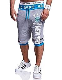 MT Styles Sweat-Short pantalon contrasté homme R-569