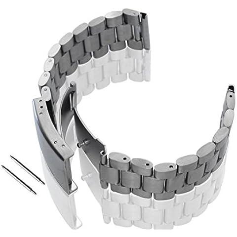 Lacaca pulsera banda de reloj de acero inoxidable para Motorola Moto 3602nd 46mm