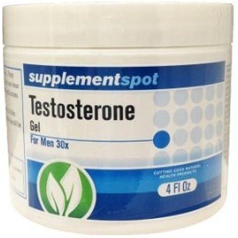 Gel de testosterona para el crecimiento hombres 4 oz muscular y fuerza Building Gel Corporal