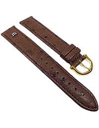 Maurice Lacroix Ersatzband Uhrenarmband Straußenleder Band Dunkelbraun 22630G, Stegbreite:18mm