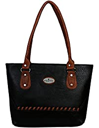 Fristo Down Archi Women's Handbag(Black And Tan)