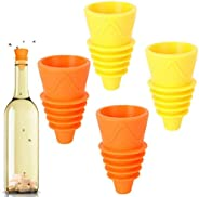 Outgeek 4PCS Fruit Fly Trap Creative Non-Toxic Reusable Fly Catcher Insect Trap for Kitchen Gadget