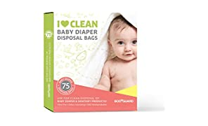 Sirona Body Guard Baby Diapers and Napkin Disposal Bags - 75 Bags