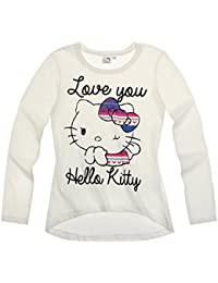 Hello Kitty Fille Tee-shirt manches longues - blanc