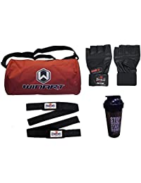 Diablo Home Gym Combo Of Gym Bag,Gym Gloves,Straps And Diet Shaker Bottle