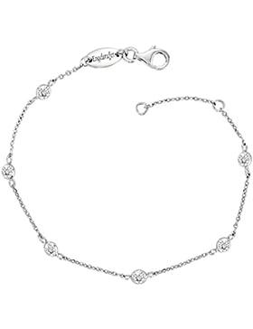 Engelsrufer Damen-Armband LIL 925 Silber rhodiniert Zirkonia weiß 18 cm - ERB-LILMOON-ZI