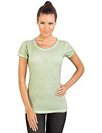 TONI - T-shirts à manches courtes en coton pur à manches longues femme vert par GEAR