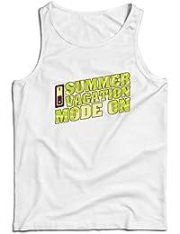 lepni.me Camisetas de Tirantes para Hombre Vacaciones de Verano - Modo Activado - Último