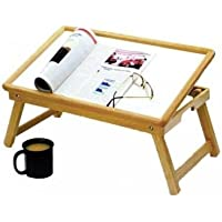 Patterson Medical - Bandeja ajustable de madera para cama