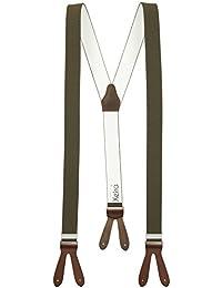 Bretelles de haute qualité pour Femmes / Hommes à boutonnière - Khaki