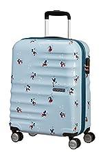 American Tourister Wavebreaker Disney - Spinner S Bagage Cabine, 55 cm, 36 L, Bleu (Minnie Darling Blue)