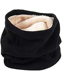 Leisial. Écharpe pour Femmes en Coton Automne et Hiver Style Coréen Double  Couche Peluche Garder 1795bc62453