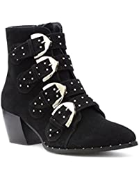 Truffle Womens Black Ankle Boot