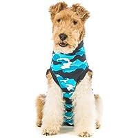 Suitical Recovery - Traje para perro, talla XS, color azul camuflaje