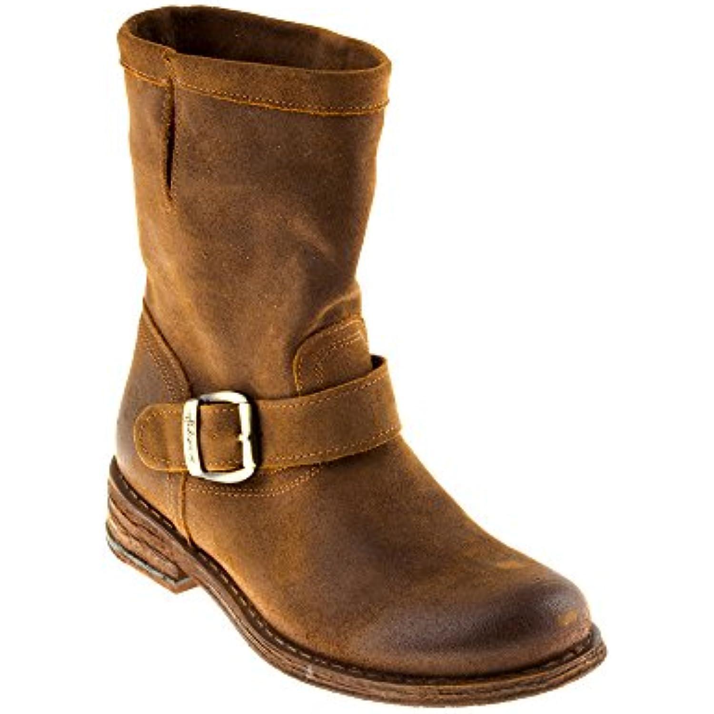 Felmini - - Chaussures Femme - - Tomber en amour avec GRouge o 7176 - Bottes Cowboy & Biker - Cuir Véritable - Marron - B0776WZW7T - 01d2ad