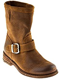 Felmini Damen Schuhe - Verlieben Gredo 7176 - Cowboy   Biker Stiefel -  Echtes Leder - ee833e4a3d