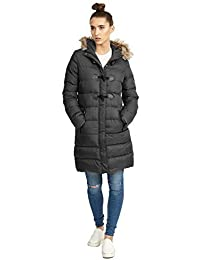 Brave Soul Womens Wizard Long Length Padded Fux Fur Hooded Coat