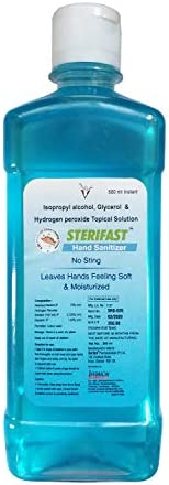 Sterifast Alcohol Based Hand Sanitizer (75% Alocohol based), 500ml
