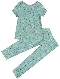 Girls Pyjama/'s Green Ditsy Floral Short Sleeve Full Leg PJ/'s M/&S Age 4 5 6 7 8
