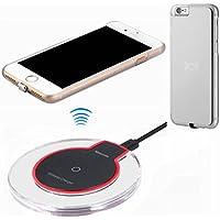 Wireless kabelloses Ladegerät Charger Kit für iPhone 6 / 6S, hanende® Qi Wireless Charging Pad und Wireless-Empfänger Fall für iPhone 6 / 6S