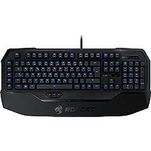 Roccat Ryos MK Glow - Teclado Gaming mecánico (ES Layout, Cherry MX Black Switches, iluminación de teclas en azul) negro