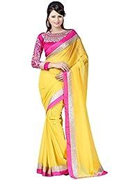 Winza Designer Chiffon Saree With Blouse Piece