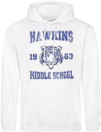 CHILLTEE Stranger Things Hawkins Middle School Will Eleven Dustin Lucas  Barb Sudadera con Capucha Unisex 25693f38759ae