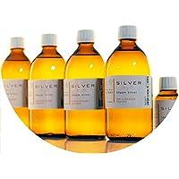 Preisvergleich für PureSilverH2O 2100ml kolloidales Silber (4x 500ml/50ppm) + Flasche (100ml/50ppm) Reinheit & Qualität seit 2012