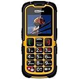 """Maxcom mm 910-G Outdoor Activity Housse Double SIM (Écran 5,1cm (2""""), appareil photo 0,3Mpx) Jaune"""