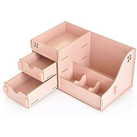 GDS/ Escritorio madera y cajón almacenamiento cosmético caja madera clasificación caja caja de estilo vintage joyería de aparador