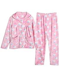 Mmllse Ensembles De Pyjamas Pyjamas Pansement d automne en Molleton De  Corail Vêtements De Nuit fd21f3380b7