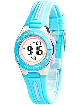 Kleine sportliche Armbanduhr digital XONIX Damen Kinder WR100m, 6D81JU2/3