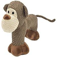 Mr.Buddington Hundespielzeug, Plüschspielzeug mit Quietscher, Elefant, Schaf, AFFE (Hundespielzeug Plüsch AFFE)