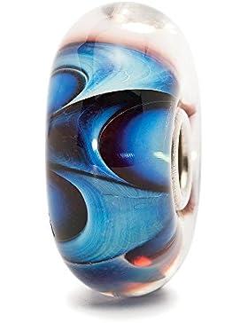 TrollBeads Damen-Bead Welle der Träume Glas 925 Sterling Silber TGLBE-10141