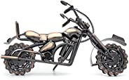 QIRLOEU خمر ديكور المعادن دراجة نارية نموذج اليدوية ديكورات المنزل النادرة ألعاب الدراجات النارية اكسسوارات مك