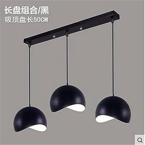 XJBIl Nordic minimalista moderno stile americano garden lounge ristorante lampadari bedroomIron direct il vassoio del disco 50cm dritto nero,