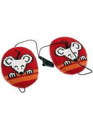 Tejido de punto Earbags (colour rojo) para niños grandes S ratón